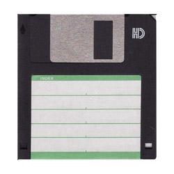 A 3.5 inch floppy disk