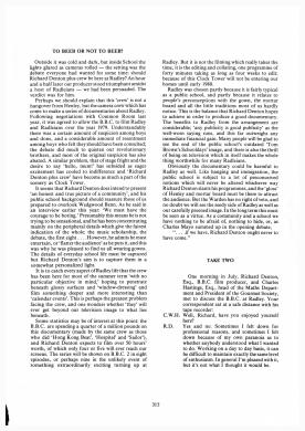 The Radleian Interview 1979