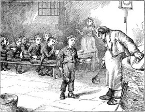 Oliver Twist was first published as a novel in 1838 and may have been the inspiration for this event.