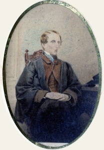 Edward Saxon Richards - Hand Coloured Photograph on Glass