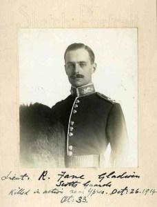 Lt. Ralph Fane-Gladwin, Scots Guards