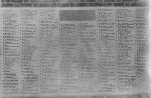 Radley College War Memorial at its dedication in May 1922