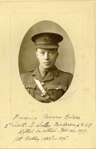 Frederick Raikes, killed in Mesopotamia in 1917. Aged 41